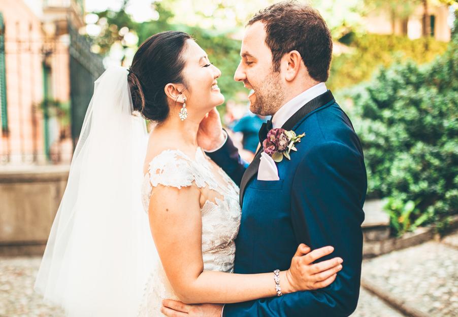 Bride-and-groom-in-love-on-Lake-Como-at-Villa-Lario-Resort-by-wedding-planner-My-Lake-Como-Wedding