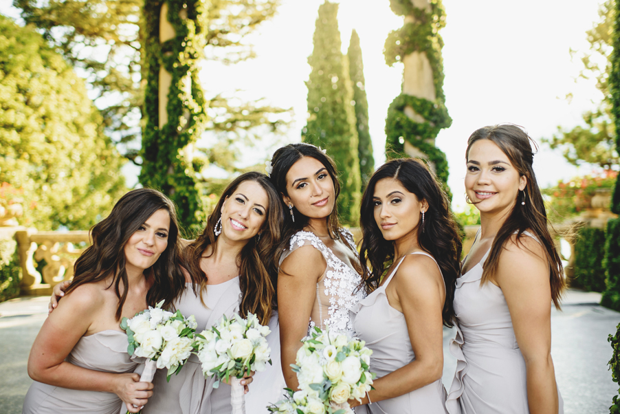 Bridesmaids-photoshoot-on-Lake-Como-at-Villa-Balianello-by-Ross-Harvey-and-My-Lake-Como-Wedding