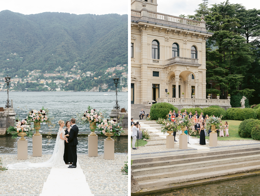Lake-Como-wedding-at-Villa-Erba-showing-ceremony-by-the-water