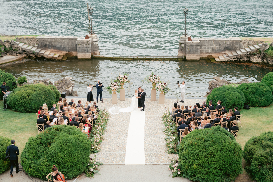 Bride-and-Groom-at-ceremony-terrace-at-Villa-Erba-by-My-Lake-Como-Wedding