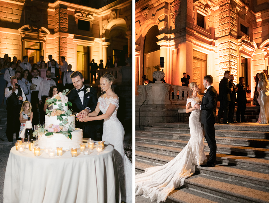 Bride-and-groom-cutting-the-cake-on-Lake-Como-by-wedding-planner-My-Lake-Como-Wedding