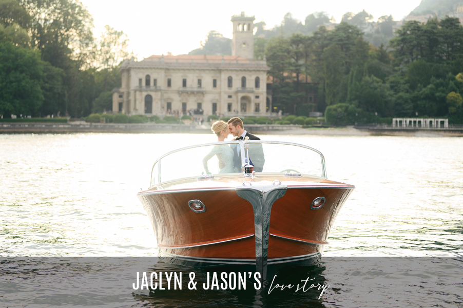 Bride-and-groom-in-Riva-speed-boat-in-front-of-Italian-villa-by-wedding-planner-My-Lake-Como-Wedding-for-blog