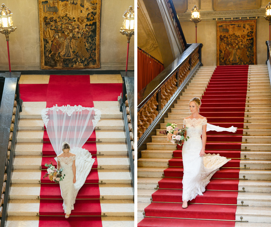 Bride-walking-to-ceremony-on-villas-grand-staircase-by-wedding-planner-My-Lake-Como-Wedding