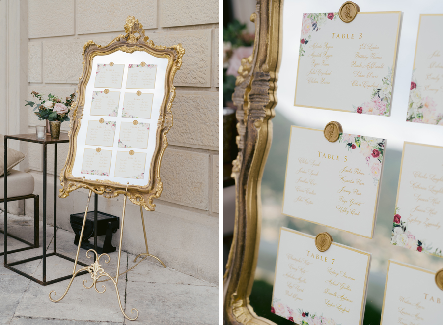 Gold-wedding-details-and-seating-plan-by-wedding-planner-My-Lake-Como-Wedding