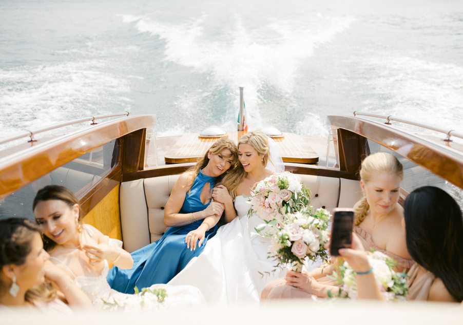 Bride-and-her-mother-on-their-way-to-wedding-ceremony-on-Lake-Como-by-wedding-planner-My-Lake-Como-Wedding
