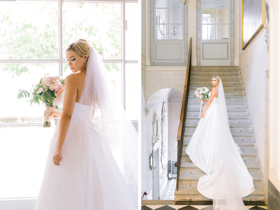 Bride-posing-in-her-dress-and-ready-for-wedding-ceremony-on-Lake-Como-at-Villa-Pizzo