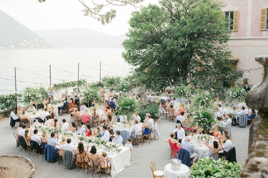 Villa-Pizzo-wedding-showing-the-outdoor-alfresco-dining-terrace-with-decoration