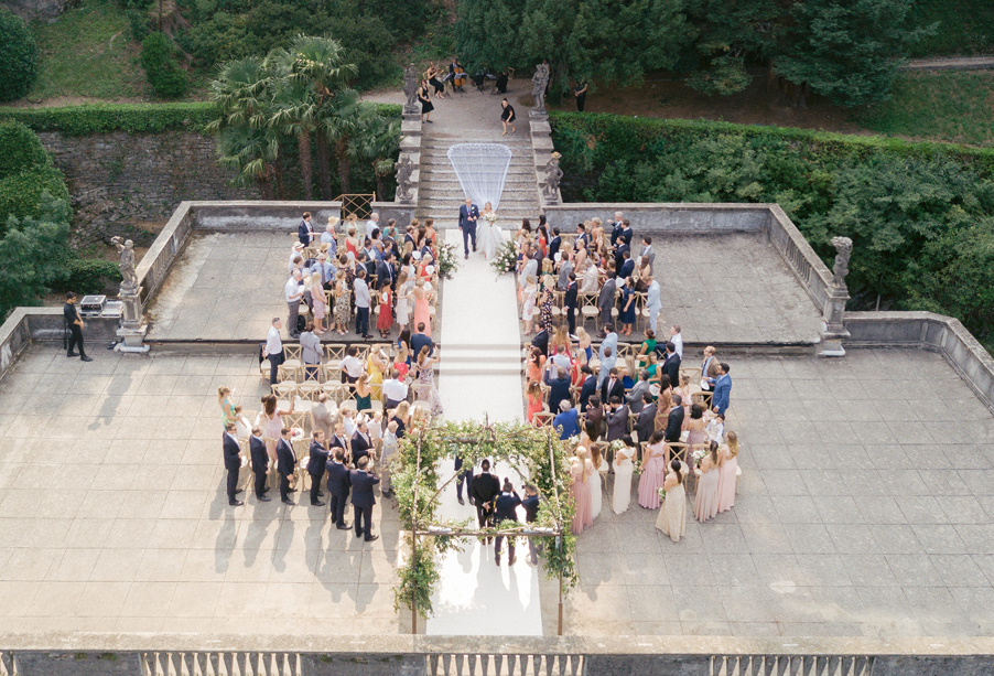 Wedding-ceremony-terrace-with-bride-arrival-by-wedding-planner-My-Lake-Como-Wedding