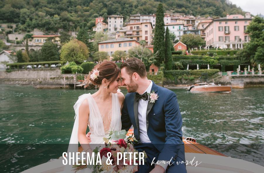 Bride-and-groom-on-speedboat-at-Villa-Teodolinda-on-Lake-Como-for-review