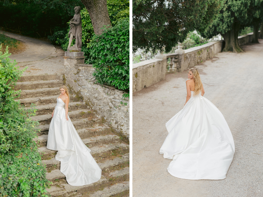 Bride-arrives-at-Villa-Pizzo-for-her-Lake-Como-wedding