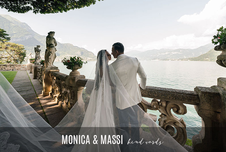 Monica-and-Massi-Lake-Como-wedding-review-and-testimonial-title-image-for-kind-words